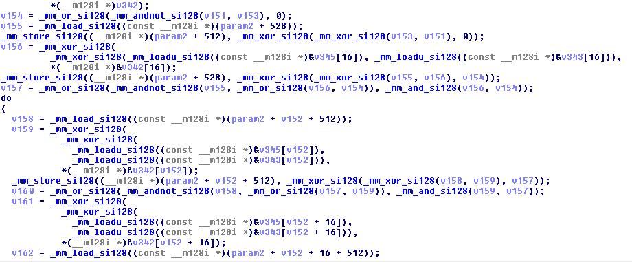 Pseudo-code de decrypt()